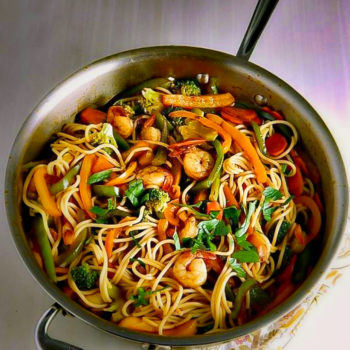 beef and shrimp lo mein